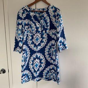 Boden | Linen 3/4 Sleeve Dress